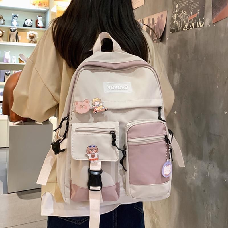 Mochila für rucksack mode nylon mädchen damen enopella wasserdichte weibliche schule frauen tasche bookbag teenager studenten niedlich kawaii wgjjk