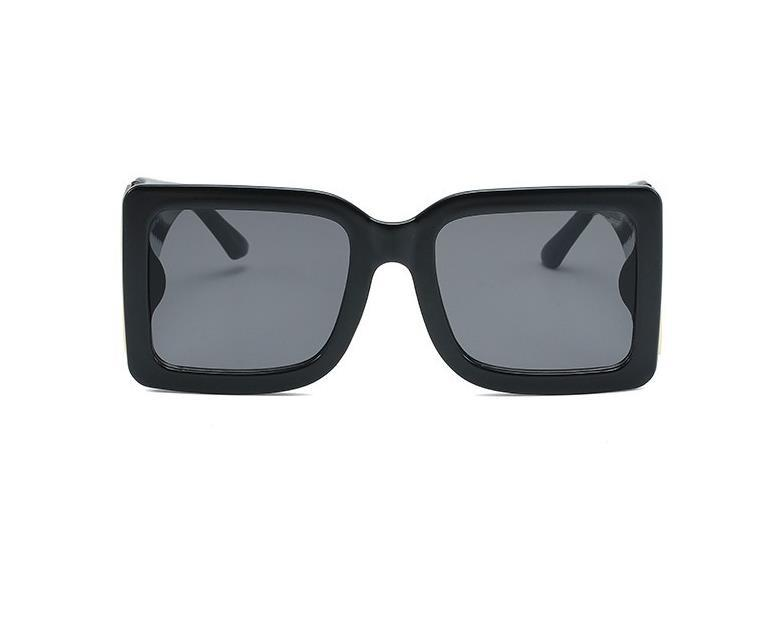 Lujo- 2021 Temporada Femenina Diseñador Gafas de sol Marco de placa cuadrada Big Double Pieles Simple moda estilo UV400 Glasses E4312