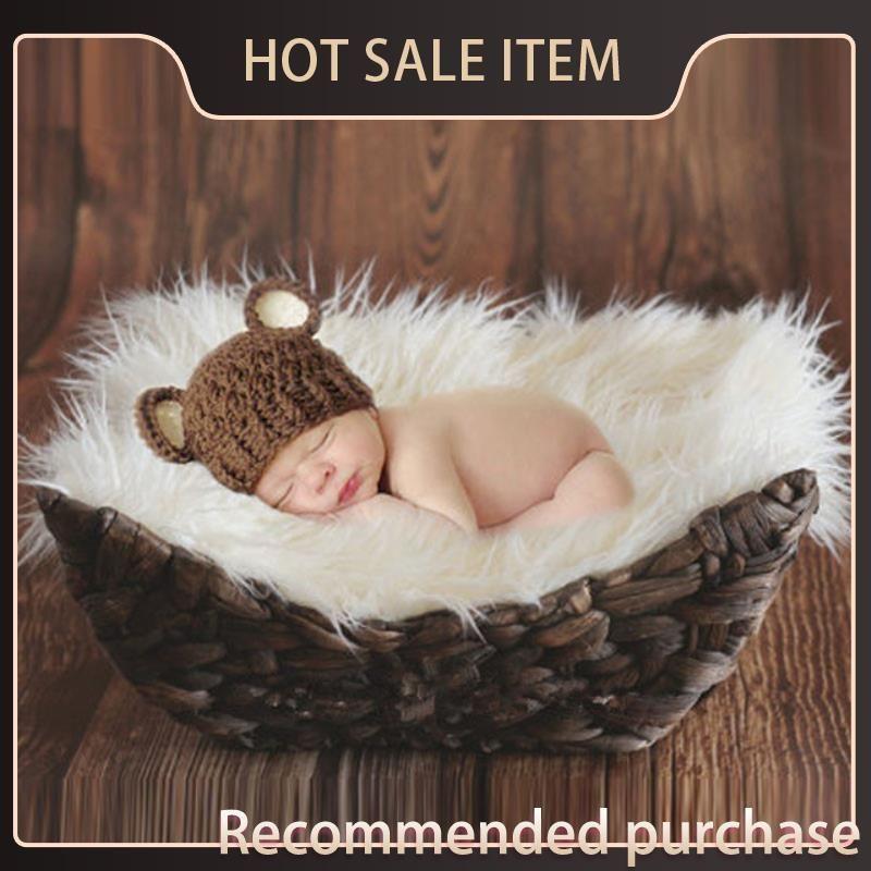 Colorfy Baby Baby Couverture Nouveau bébé Jolle-né mignon Nouveau-né Accessoires Confortable Photographie Couverture Pasgeboren Harige Props Peeuter Bone VCCA