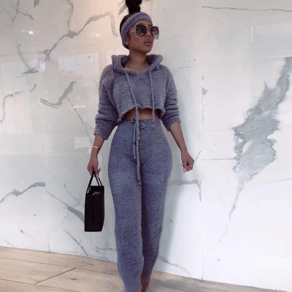 2019121625 sexy 2 peça conjunto mulheres 2019 inverno casual sólido streetwear conjuntos de conjuntos de roupas de duas peças conjunto elegante feminino calças