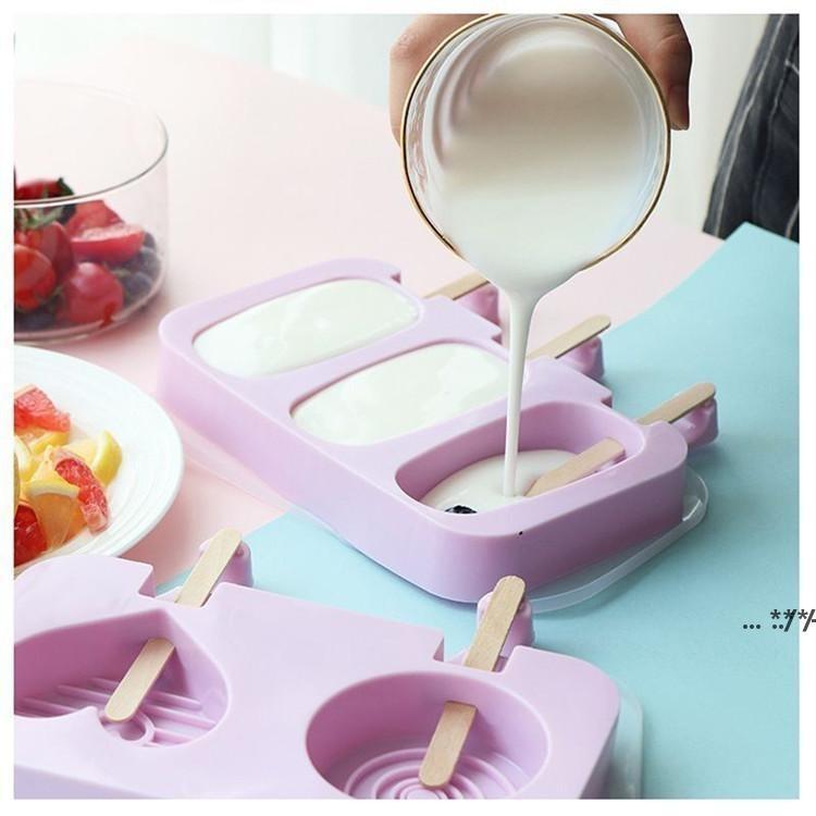 DIY Eis Creme Silikonformen Kinder Tiere hausgemachte Popsicle Formen für Kinder Niedlichen Cartoon Eis-Lolly Mold Eiswerkzeuge FWD5690