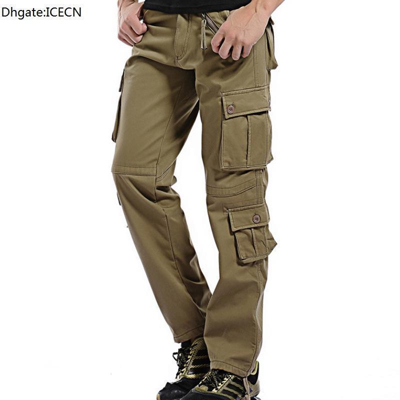 Inverno Addensare Addensare Pantaloni da carico Pantaloni da stiro Pantaloni da uomo Tactical Pantaloni in cotone Uomo Scelta BAGGY JOGGER Pantaloni casual