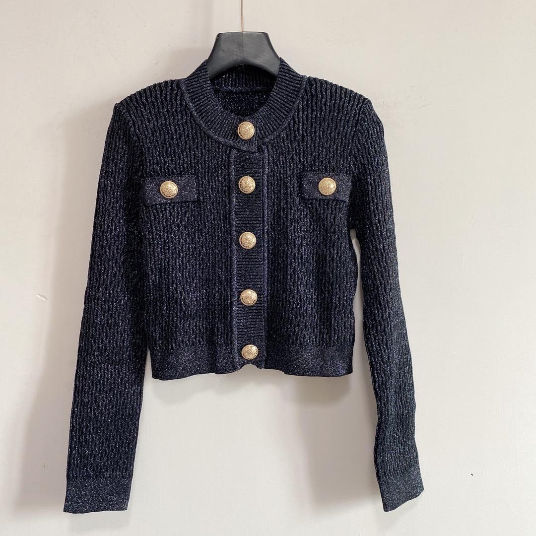 2021 Milan Pist Kazak O Boyun Uzun Kollu kadın Kazak Yüksek Sonu Jakarlı Hırka Kadın Tasarımcı T-shirt 0526-21