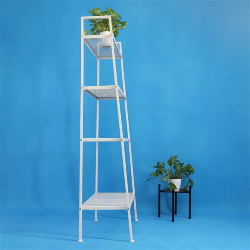 4 Tier Leaning Ladder Shelf Shelving Bookshelf Storage Organizer Standing 659 S2