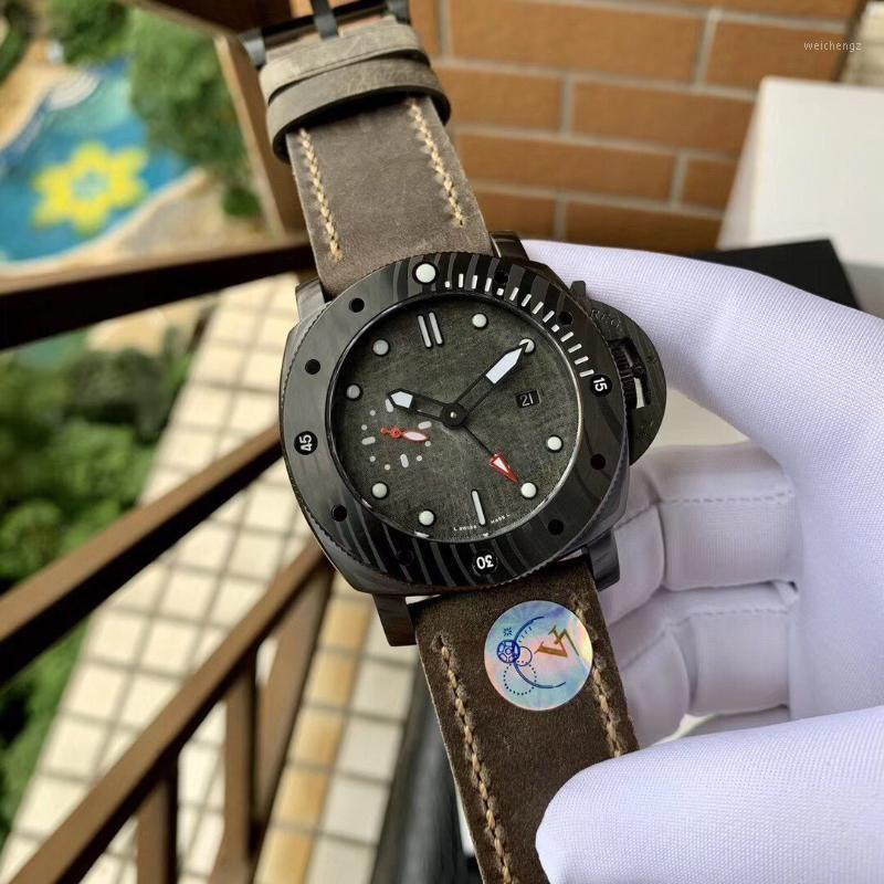 Наручные часы PAM0103 Роскошные мужские Часы Автоматическое движение Резиновый ремешок Водонепроницаемый 47 мм V711