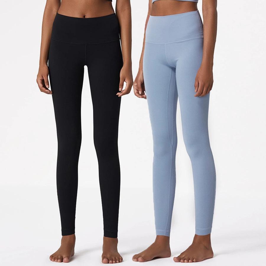 Desnudo ll Original Doble cara Brocade Hip Levantamiento Fitness Pantalones de yoga para mujer GSTS Deportes GSTS