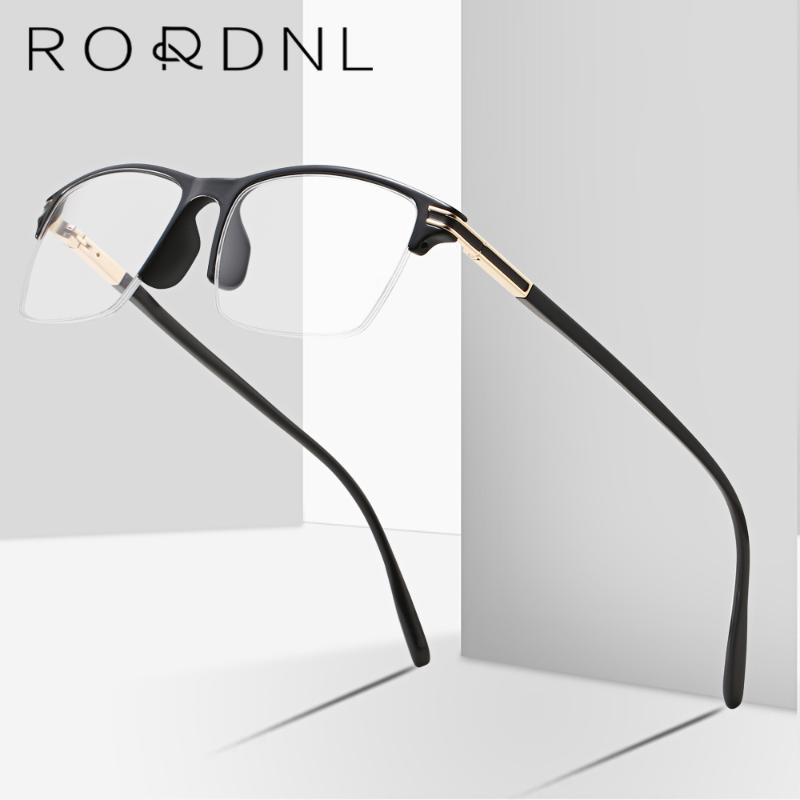 Fashion Sunglasses Cadres Semi-Inn sans linge Lunettes de vue Optique Cadre pour hommes Myopie Prescription verres mâle lunettes personnalisées TR90