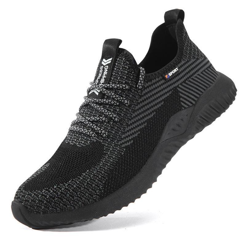 Güvenlik Ayakkabı Çelik Burun Erkekler, Moda Smashing Anti-Smashing Erkek Çalışma Ayakkabısı, Siyah Nefes Rahat Spor Ayakkabı Seguridad H582 ZJKGFJKAFSGB