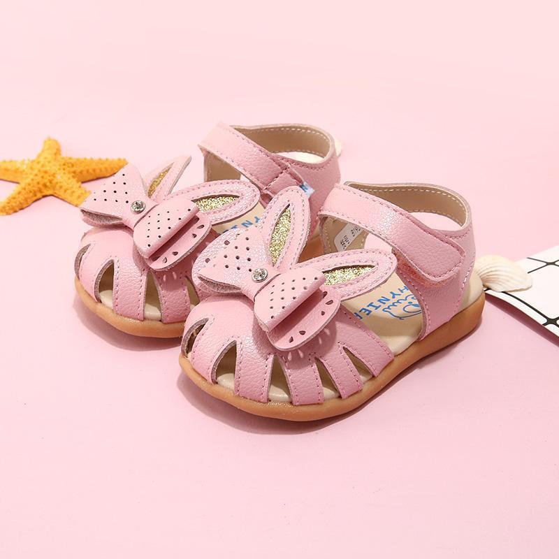 1-3-5 سنوات من العمر الأطفال لينة أسفل أحذية الأطفال الكورية فينر الكرتون الطفل الأميرة الصنادل الصيف بنات باوتو