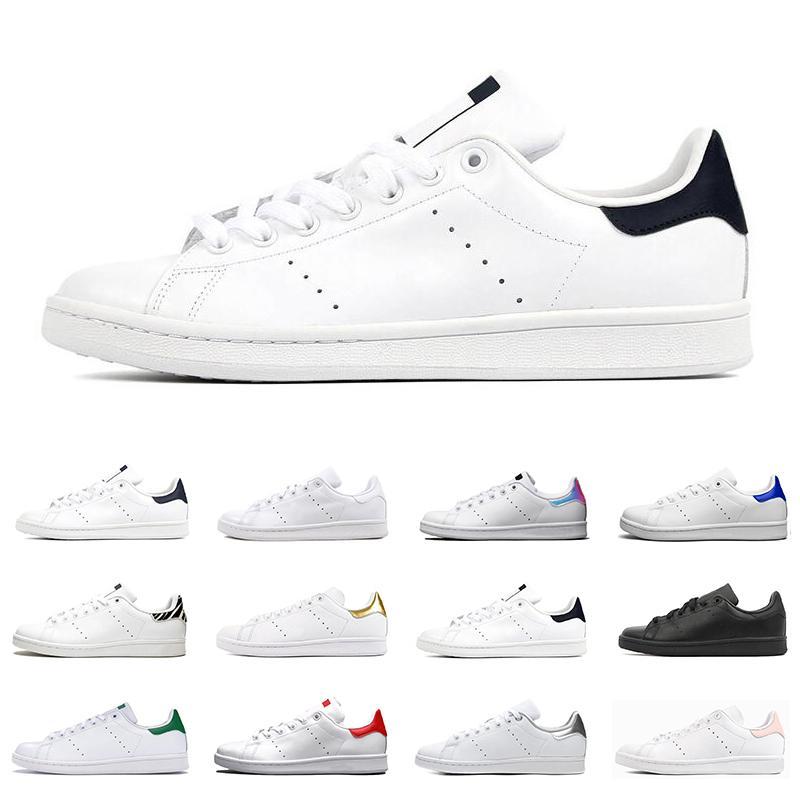 2021 سميث رجل إمرأة حذاء مسطح أخضر أسود البحرية الأبيض الأزرق أوريو قوس قزح ستان نمط رجل مدرب الأحذية الرياضية في الهواء الطلق حجم 36 adidas stan smith shoes-44