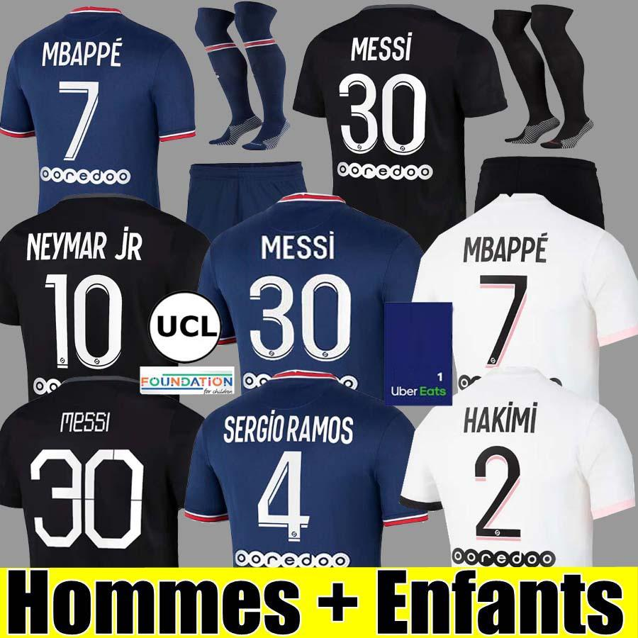 PSG 21 22 soccer jersey Fußball Trikots 2021 2022 Paris Saint Germain Trikot NEYMAR JR MBAPPE Trikot Survêtement Fußball Kit Fußball Shirt Frauen vierte 4