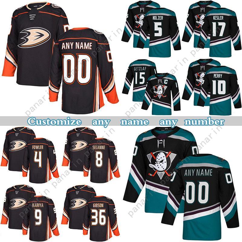 Personalizado Anaheim Ducks Hockey Jerseys 9 Paul Kariya 4 Cam Fowler 8 Teemu Selanne 17 Ryan Kesle Qualquer número e nome