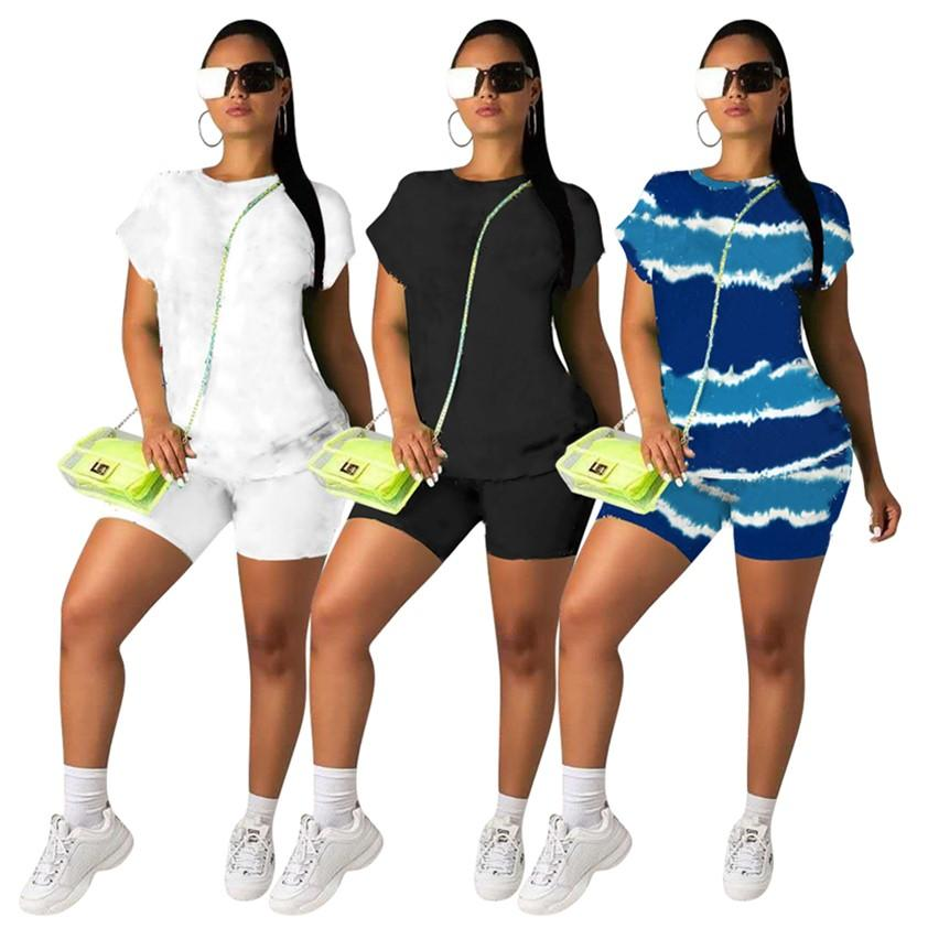 Women Summer clothes 2 piece tracksuits T-shirt+shorts Short Sleeve outfits Joggers suit Casual sportswear Designers Letter Sweatsuits With logo Black DHL 4709