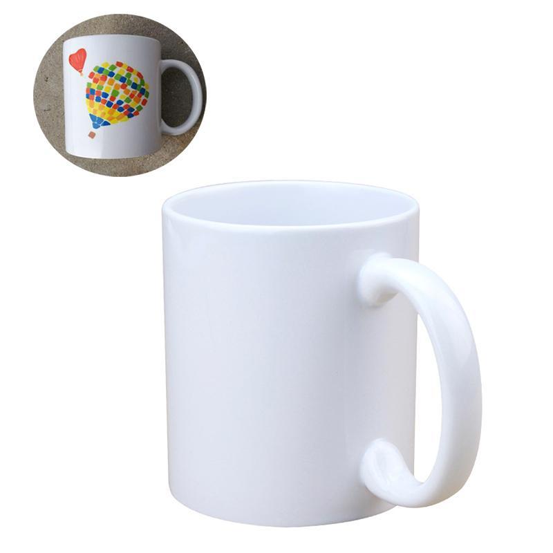 11 أوقية التسامي فارغة السيراميك القدح diy مقبض كوب القهوة بلون المنزلية شخصية كؤوس ماء الإبداع هدية