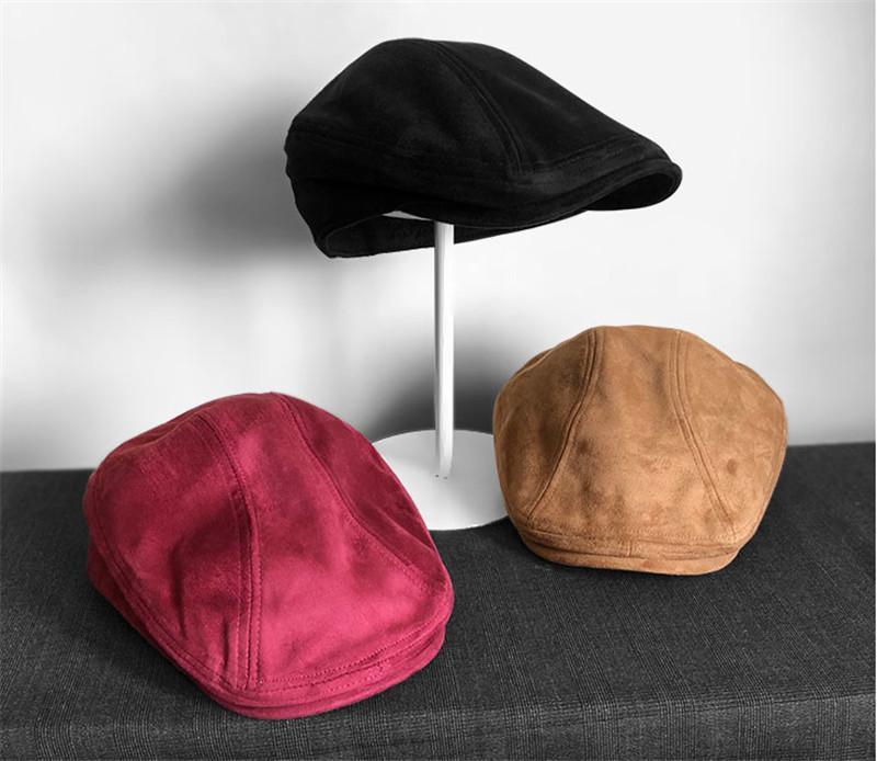 Douce fille hiver hiver laine chaude femmes béret français artiste beanie casquette massif chapeaux mode nouveau