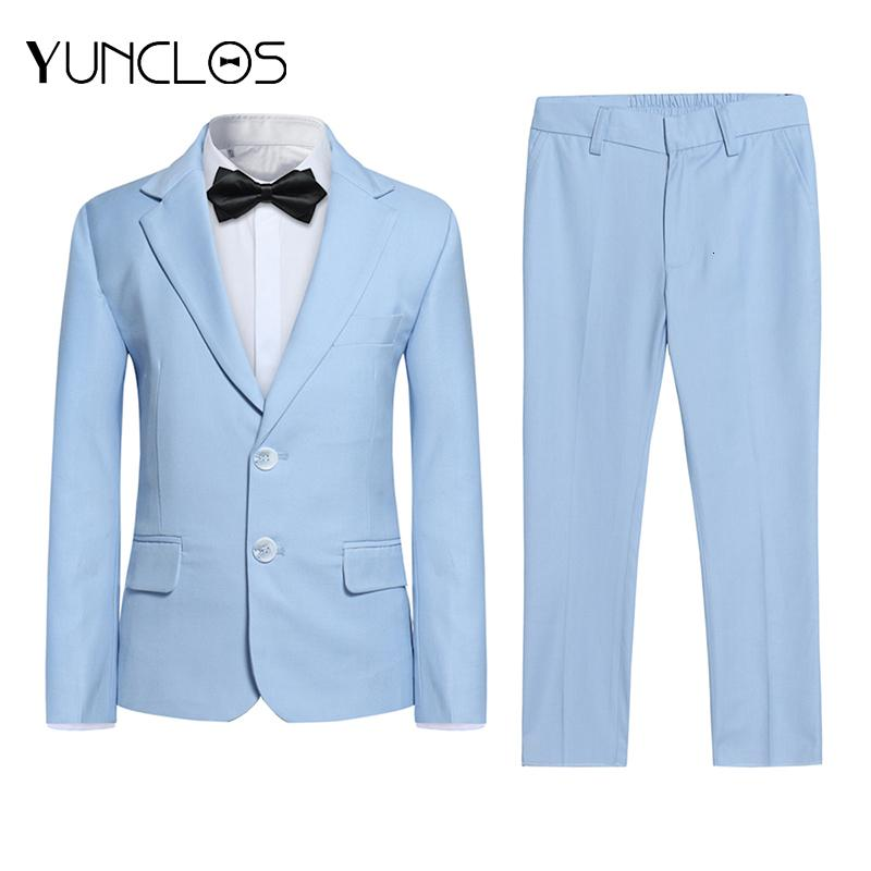 Yunclos Мужчины детский костюм 2 шт. Одиночный погружной смокинг Кольцевидник Slim Fit Свадебные костюмы для детского вечеринка платье