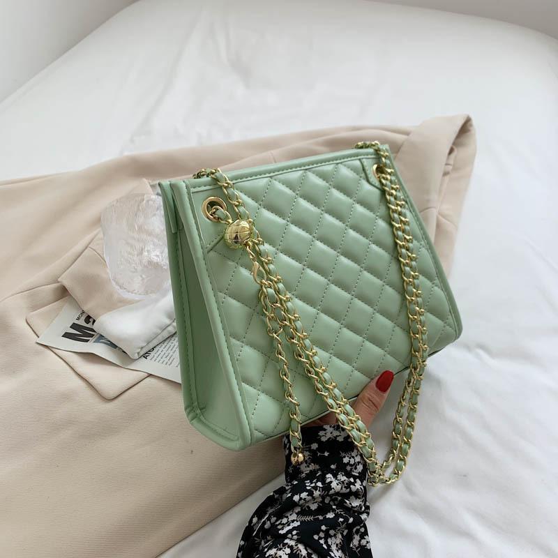 Sacs à l'épaule marque designer PU cuir sac de femme chaîne sac à main petite carrée