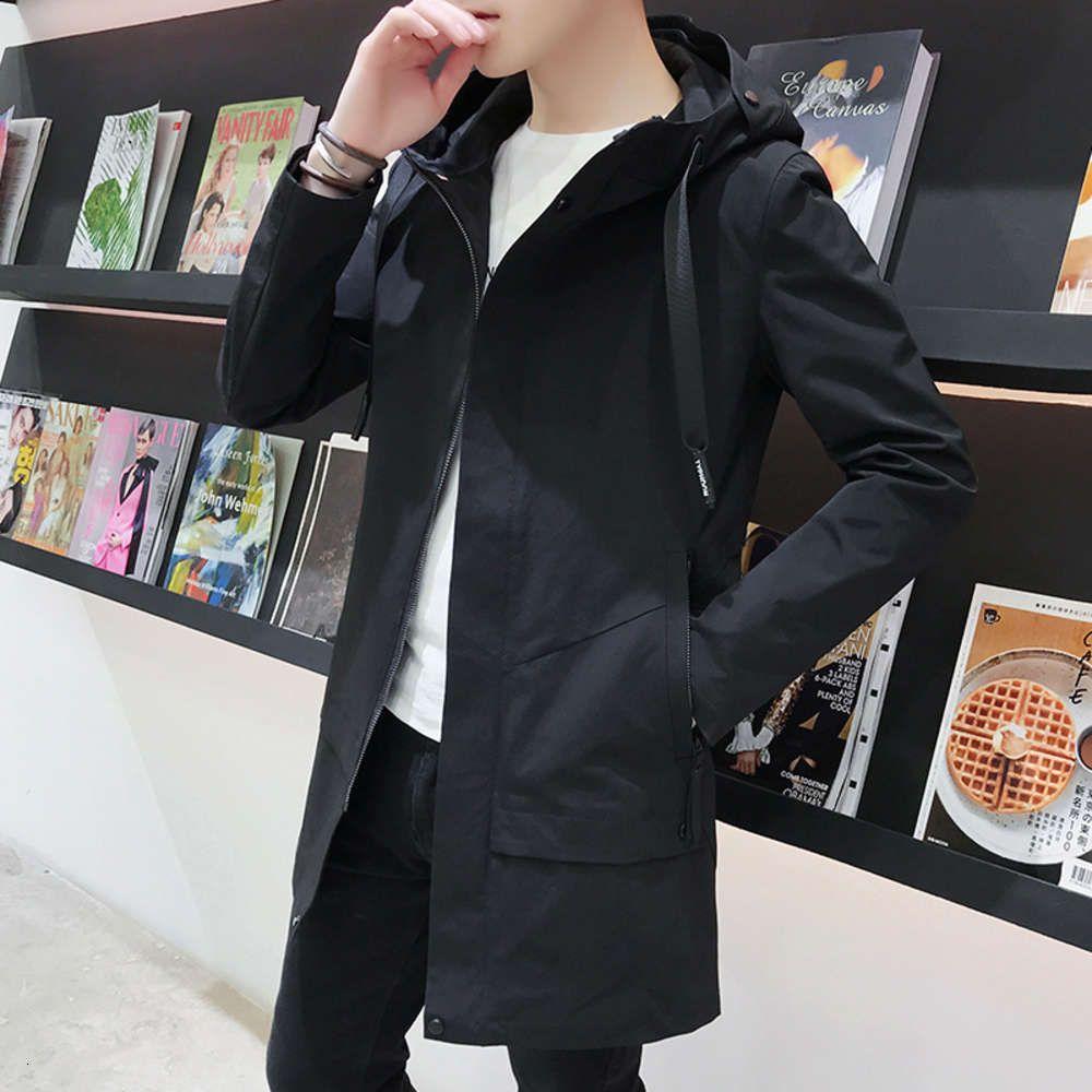 L'automne Nouvelle veste de brise-vent à capuche à capuche à capuche de jeunes hommes est beau et facile à porter