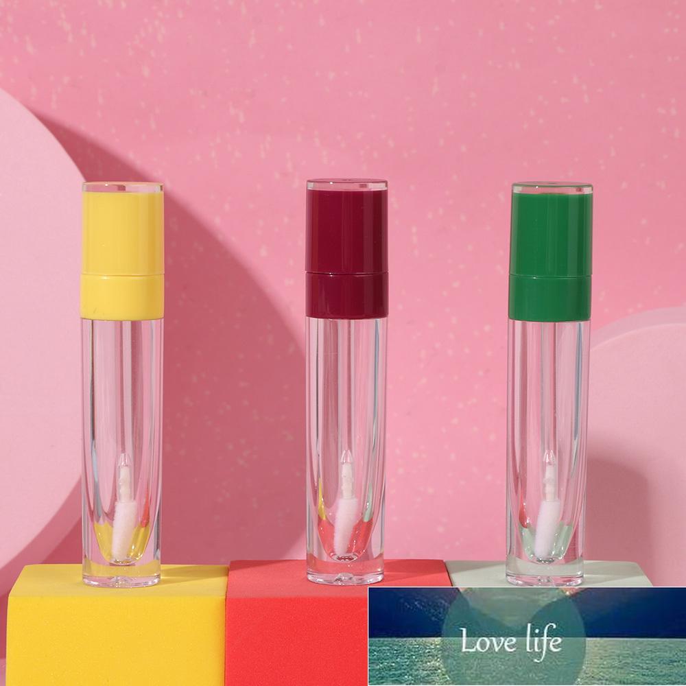1 ADET Yuvarlak Boş Plastik Dudak Parlatıcı Tüpler Dudak Balsamı Şişe Dudak Sır Konteyner 8 ml Makyaj Aracı DIY Numune Şişeleri Renkli Kap