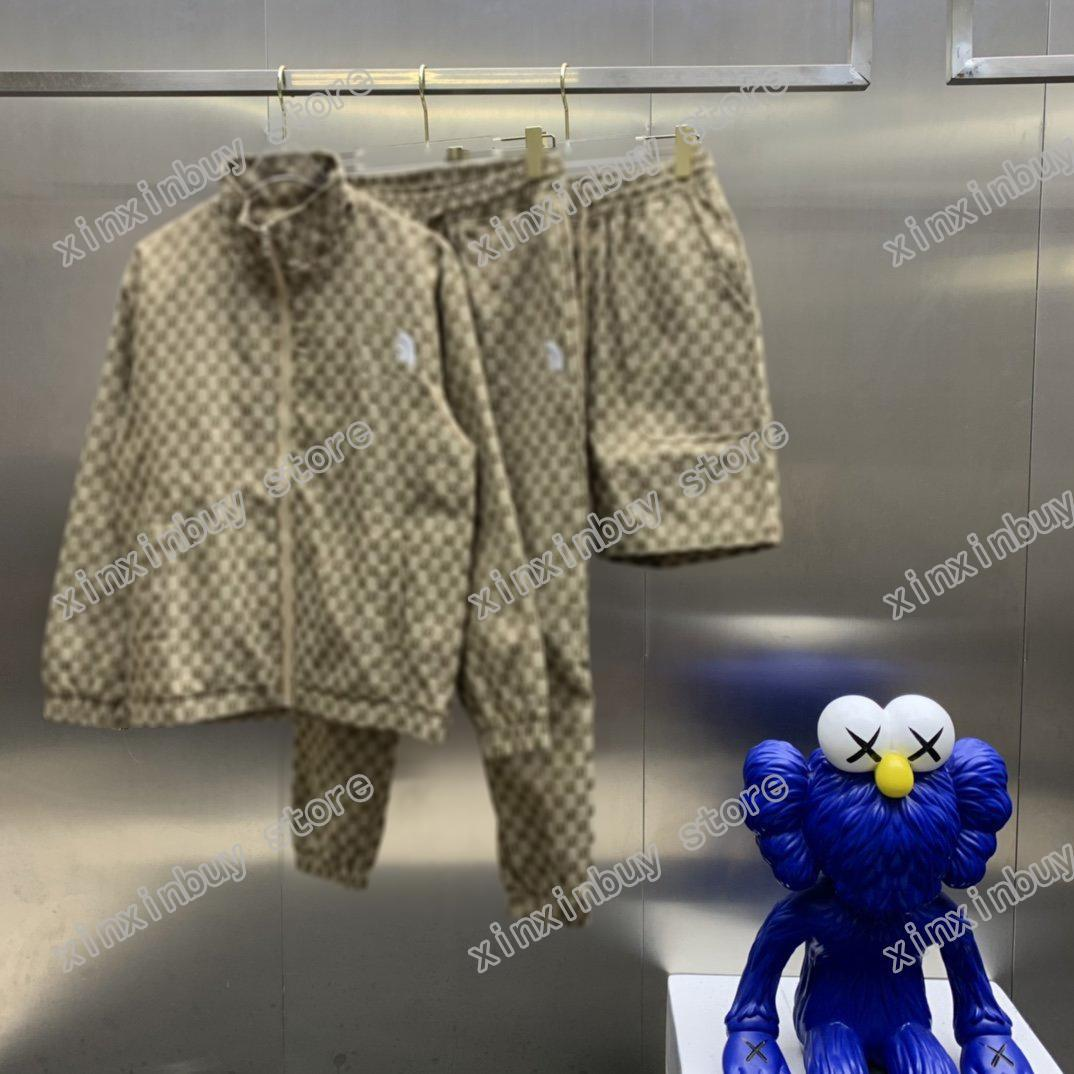 21ss Men Partment Дизайнерская куртка Париж Двойная буква Жаккардовые ткани Одежда с короткими рукавами Мужская рубашка тег белый черный 06