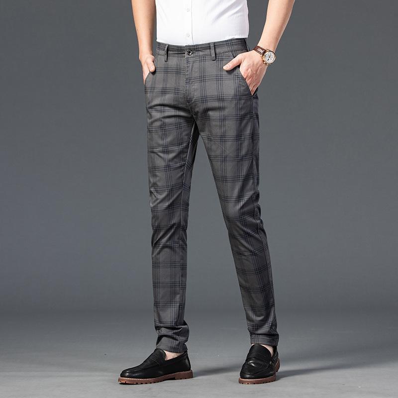 Calças masculinas Moda Alta Qualidade Homens Long Long Masculino Negócios Clássico Brand Fino Inglaterra Stripe Calças Completas Casuais 28 33 3 3 3 3 3 3 3 3 3 3 3 3 3 36 38 38