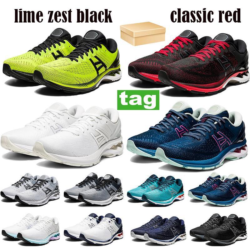 Gel-k27 homens mulheres correndo sapatos limão zest preto clássico clássico vermelho triplo puro prata platina gs homens sneakers treinadores com caixa US 4-11