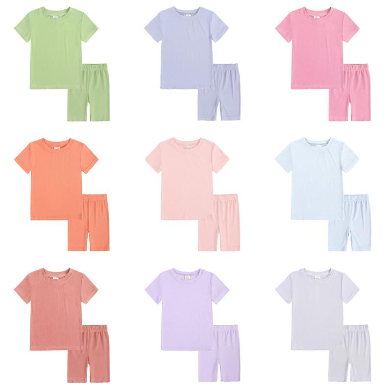 Baby Boy Girl Одежда для одежды Шорты Шорты Костюм 2 шт. Ins Летние Спорт Пижама Бутик Одежда для одежды