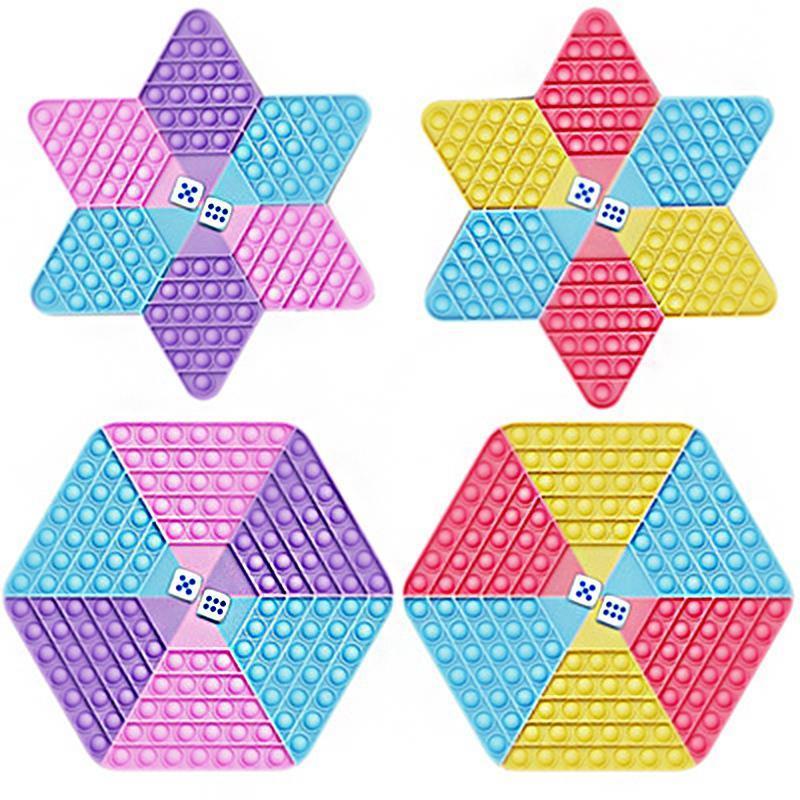 Spinner Fidget Toy Prime Its Pops Push Bubble Ultime Decompressione del prodotto Giocattoli Desktop Puzzle per bambini Chestboard Finger Entertainment Gift 28 * 32cm DHL