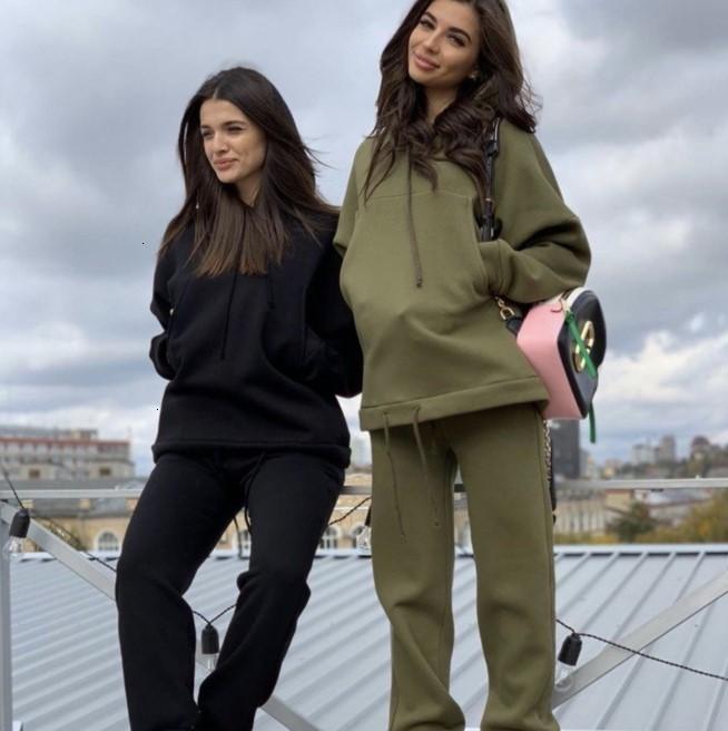 01 OFF 70% DA 2204B 2021 Fashion Grande tasca con coulisse con cappuccio Maglione + Set di colori solidi