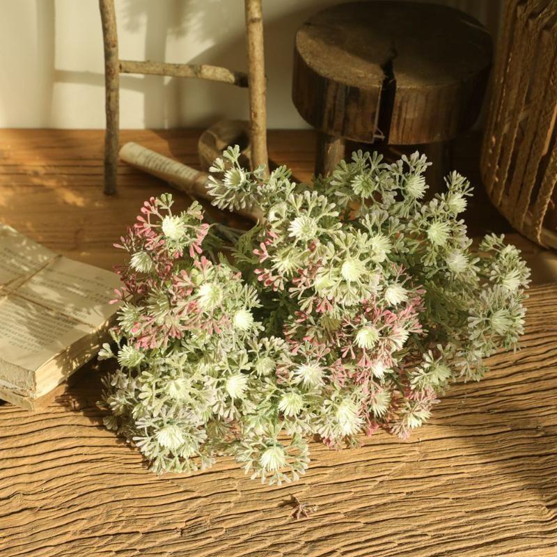 النباتات الاصطناعية النباتات عيد الميلاد أكاسيا الزفاف الديكور كاذبة زهرة ديكور المنزل ترتيب ins chrysanthemum البرية