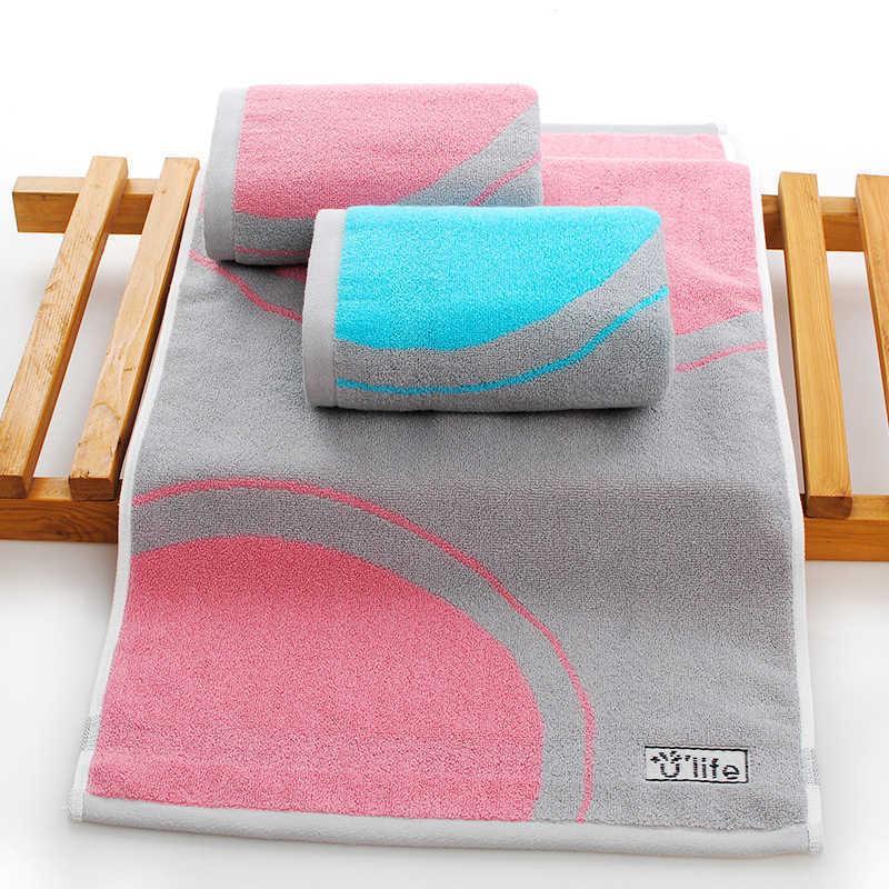Home Use toalha macia Absorção de água espessante pode entrar em contato com a pele 100% algodão CN (Origem) Penteado 210728