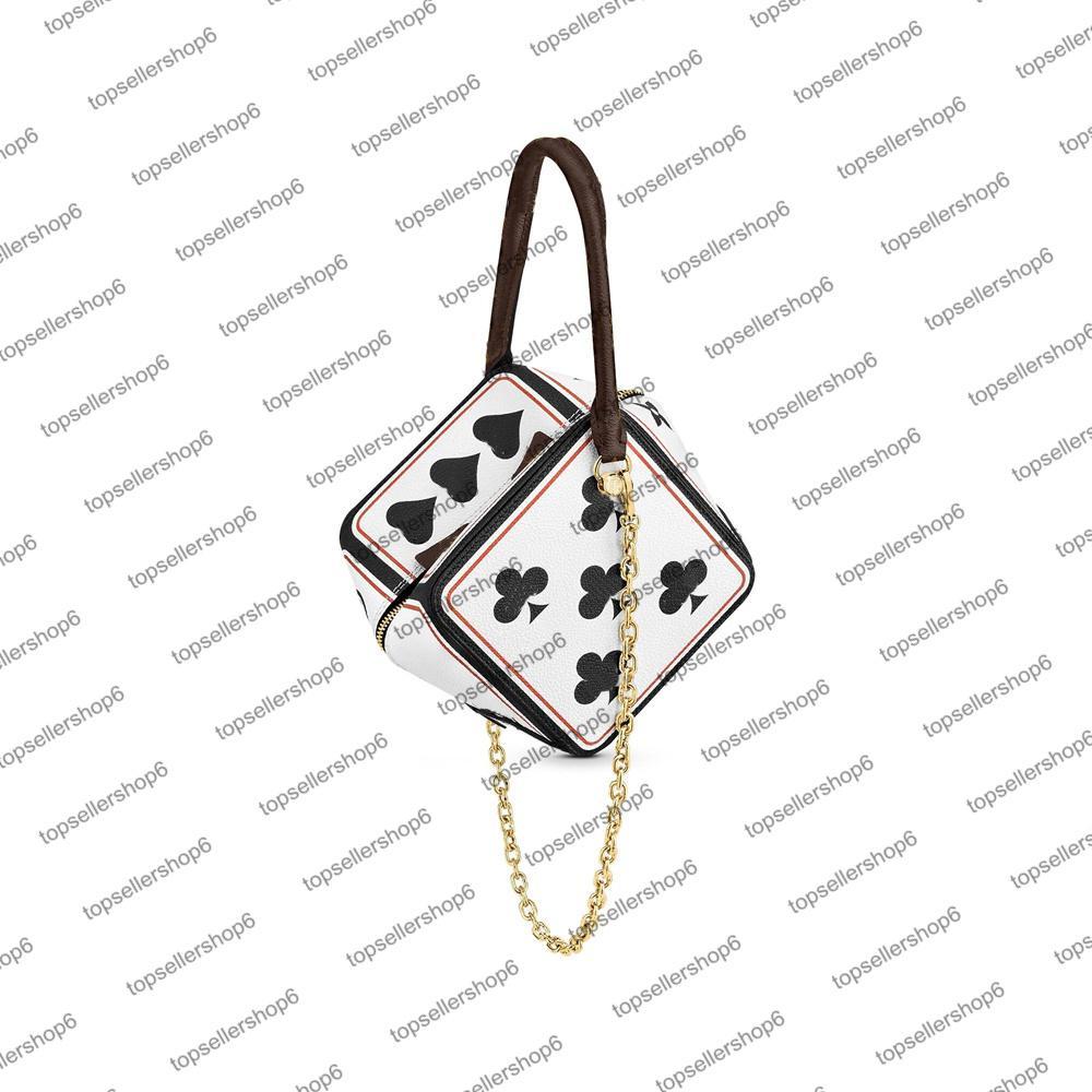 M57478 لعبة على ساحة المرأة حقيبة مصمم سلسلة حزام المتضخم النرد اللعب بطاقة حقيبة يد الكتفين الجسم محفظة