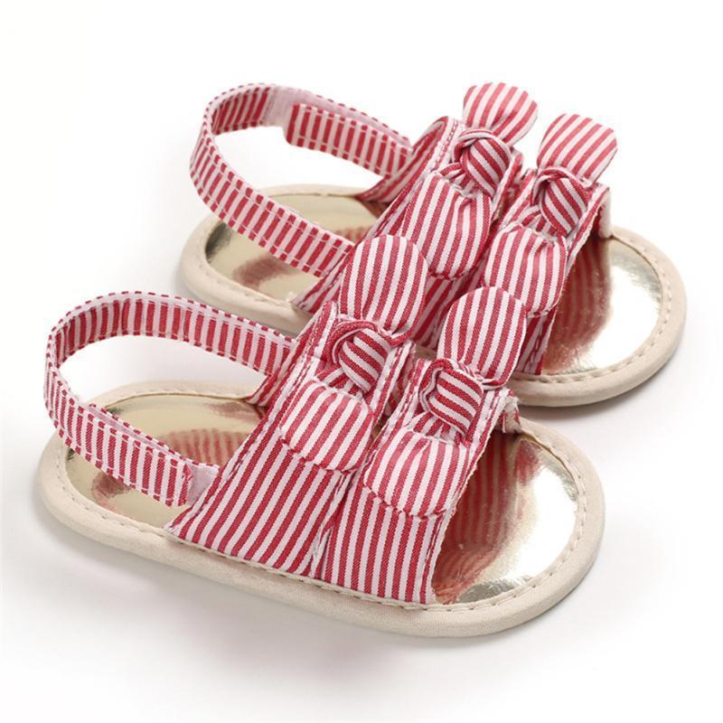 패션 태어난 아기 공주 신발 활 유아 여름 샌들 PU 미끄럼 방지 소프트 바닥 통기성 소녀