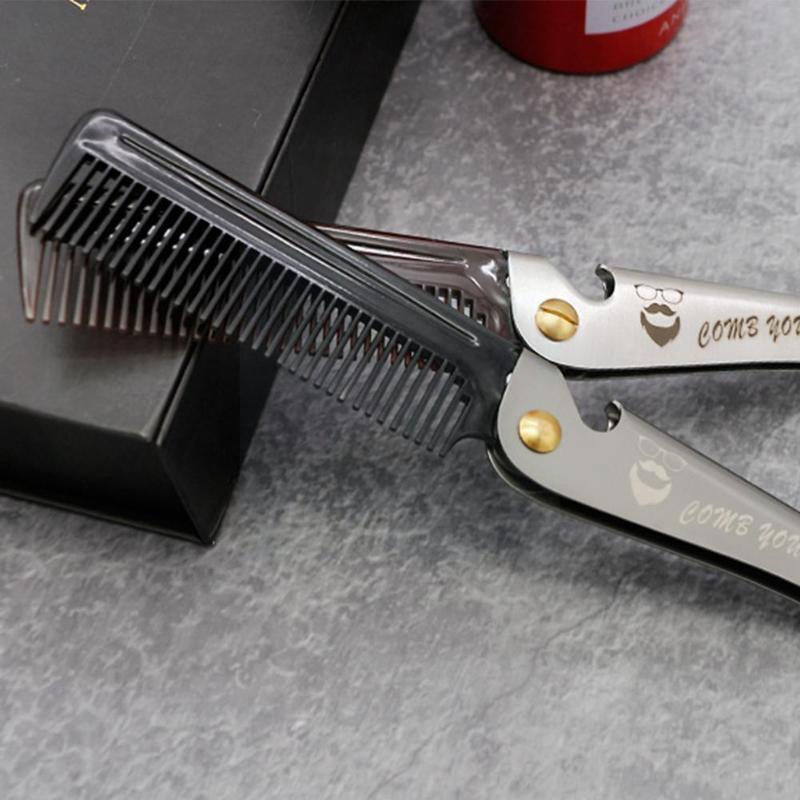 Pennelli per capelli pieghevoli pettine pettine portatile barba da uomo per uomo per uomo speciale per Beauty Big Back C9Q6