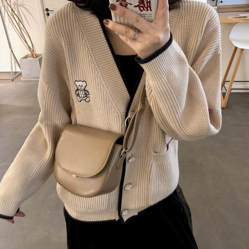 안장 가방 토트 백 2021 패션 품질 PU 가죽 여성 디자이너 핸드백 어깨 메신저 전화 지갑