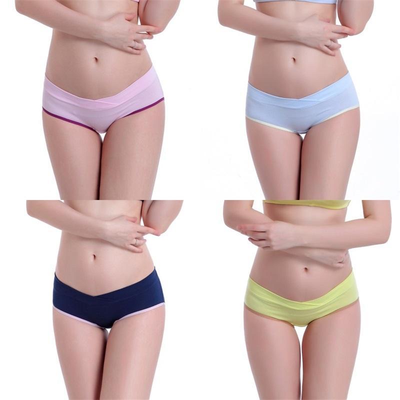 출산 여성 팬티 부드러운 면화 임신 한 여성 팬티 팬츠 임신 한 여성용 속옷 Intimates Briefs 2458 Q2