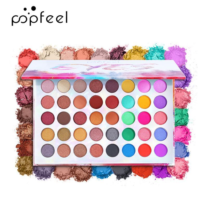Popfeel ماتي عينيه لوحة ماكياج مجموعة 40 ألوان طويلة الأمد مستحضرات التجميل للماء