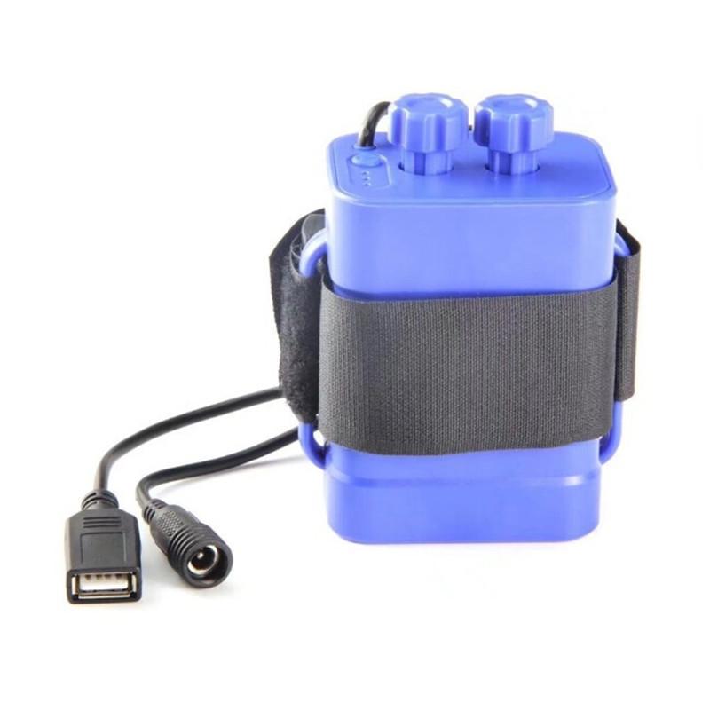 18650 حزمة بطارية حالة ماء 8.4 فولت USB DC شحن 6 * 18650 قوة البنك مربع ل led دراجة دراجة ضوء بدون بطاريات