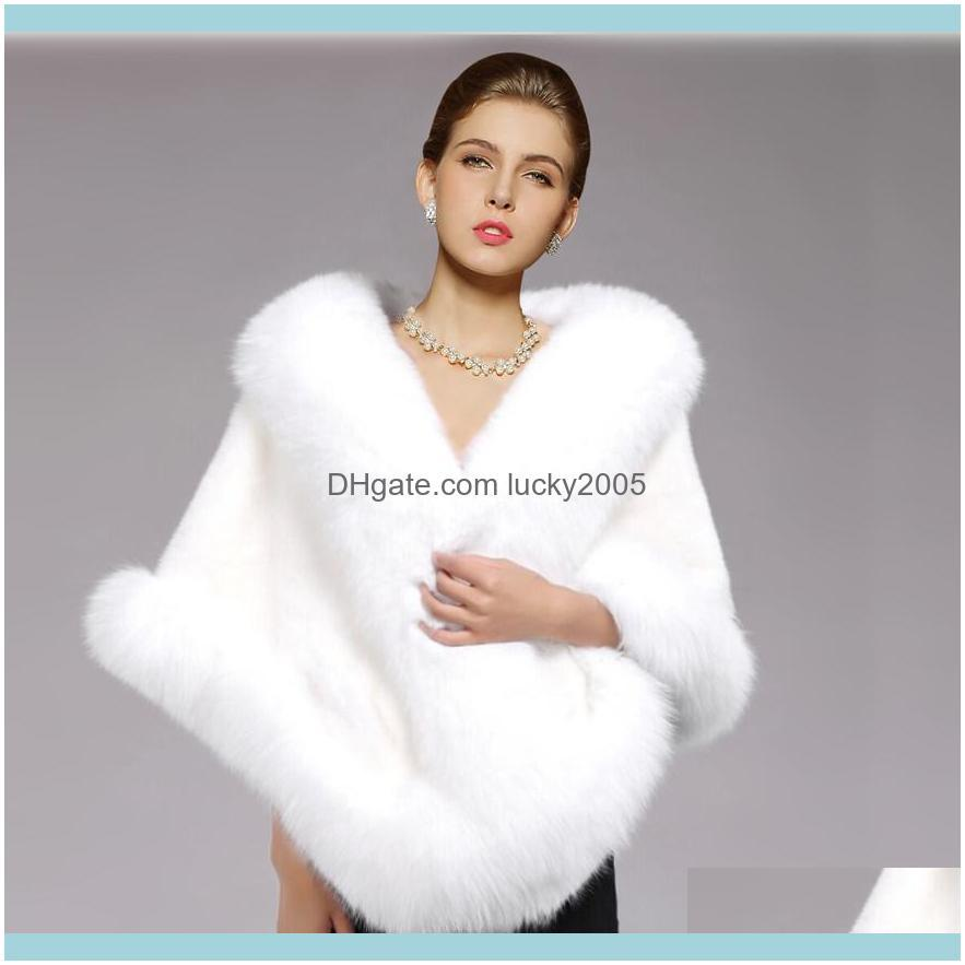 Jackets Aessories , Party & Eventswhite Bridal Wraps Winter Wedding Coat Soft Faux Fur Warm Shawls Outerwear Black Gary Bury White Red Women