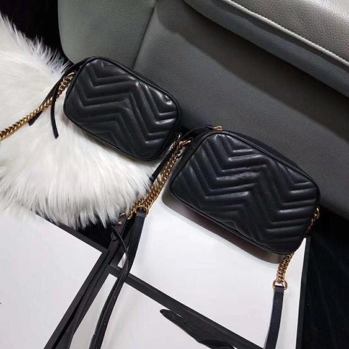 2021 Alta Qualidade Luxurys G Designers Moda Mulheres Crossbody Bag Ombro Bolsas Carta Bolsa Senhoras Senhoras Correntes Cruz Body Clutch Camera Bolsas
