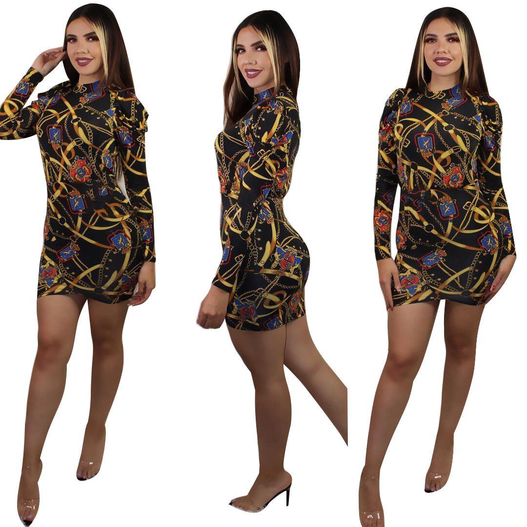 Colección de chándales de mujer Colección Retro étnico verano camiseta de manga corta y falda Arbitrary Match The Chic Dwing Piece Womens Vestido