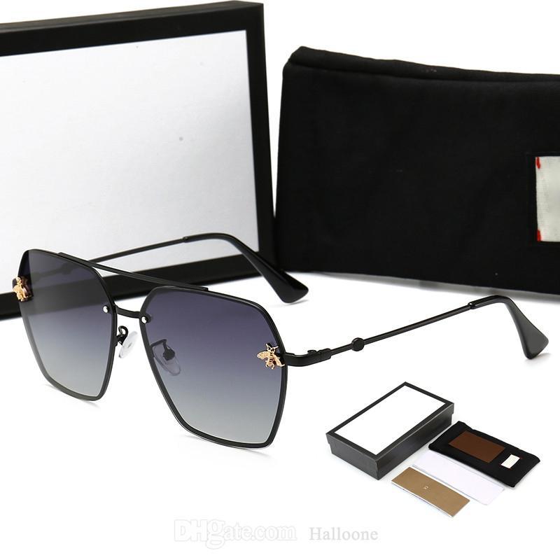 تصميم كلاسيكي النظارات الشمسية الاستقطاب الفاخرة للرجال النساء الطيار نظارات الشمس uv400 مصمم 0113 نظارات النحل المعادن مرآة الإطار رجل إمرأة بولارويد عدسة مع صندوق