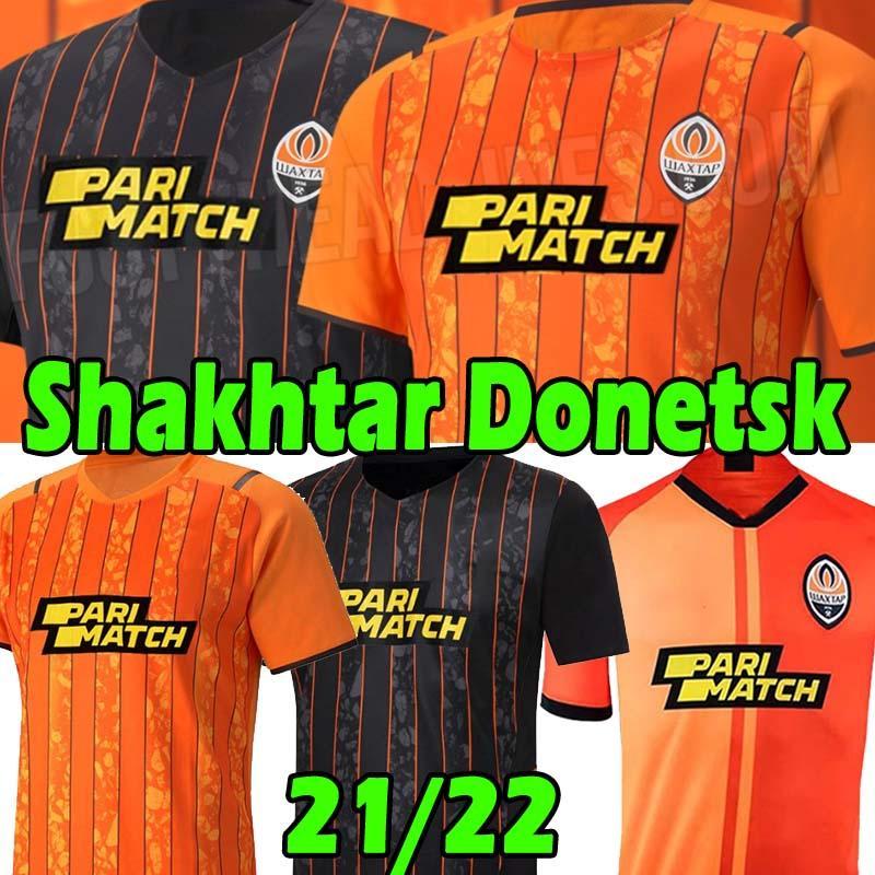 21/22 Shakhtar Donetsk Fussball Jersey 2021 2022 Camiseta Solomon M. Antonio Konoplyanka Tete Ismaily Trikots Dodo Marlos Kovalenko Football Shirt