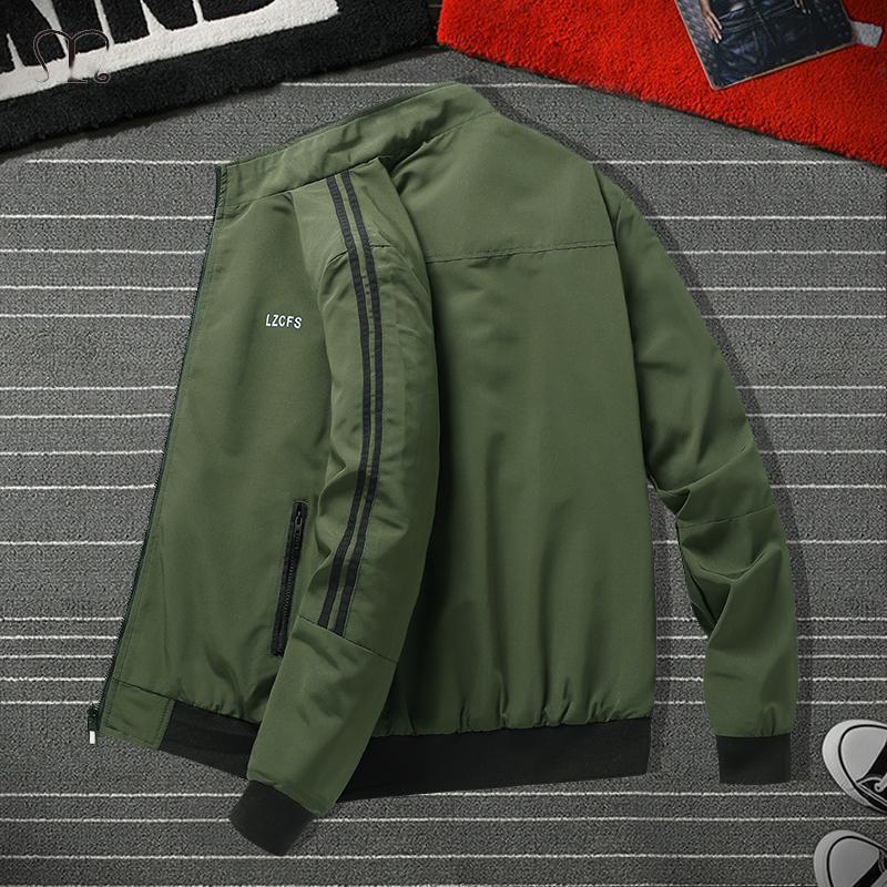 2021 Fermuar Erkekler Ceket Sonbahar Kış Dış Giyim Erkek Giyim Boyutu 3XL Beyzbol Bombacı Ceket Erkek Rüzgarlık Jaqueta Masculina