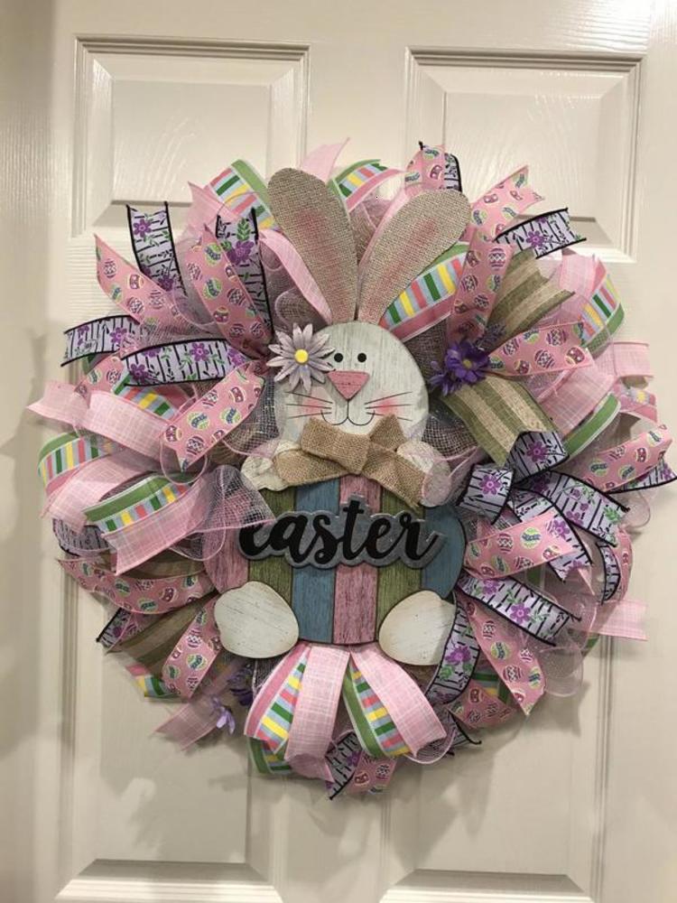 Parti Malzemeleri Paskalya Bunny Dekoratif Kapı Duvar Dekorasyon Çelenk Yaratıcı Ev Mobilya