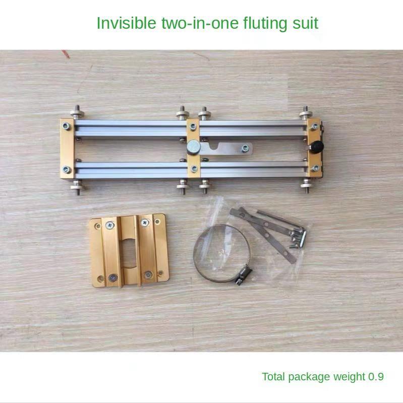 Professionelle Handwerkzeugsets 2 in 1 Punch Locator Unsichtbare Stecker Befestigungselement Trimmen Maschine Schlitzvorrichtung für Möbel Kleiderschrank Woodw