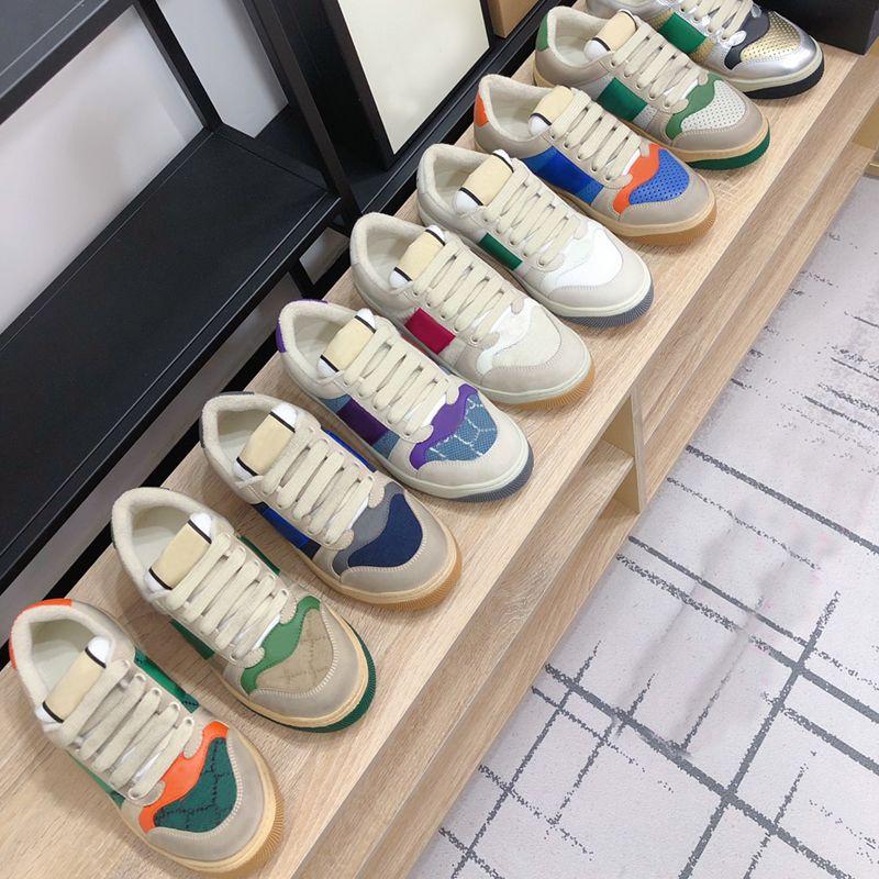2021 منصة الرجال رياضة عارضة أحذية النساء السفر الجلود الدانتيل متابعة حذاء 100٪ جلد البقر الأزياء رسائل الربط امرأة الأحذية شقة سيدة أحذية كبيرة الحجم 35-42-45 US4-US1