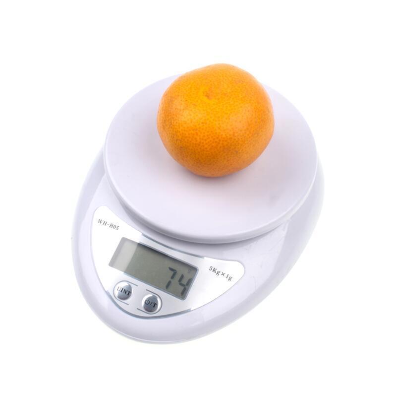 Portátil 1kg 5kg Digital Escala de cocina Dieta Postal Balanzas Balance Peso Electrónico Ponderación LED Escala electrónica