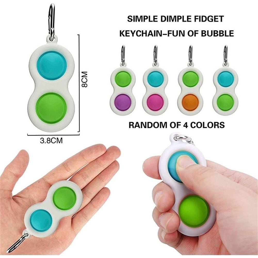 Push Finger Bubble Llavero Juguete Niños Adultos Silicona Fidget Simple Llavero Descompresión Llavero Pandent H31C8LF