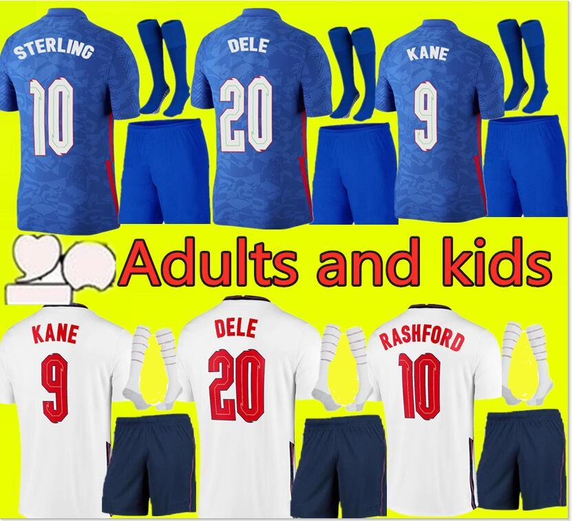 أعلى تايلاند الجودة تايلاندي لكرة القدم جيرسي 2021 كين الاسترليني راشفورد لينغارد Vardy 20 21 القمصان الوطنية لكرة القدم الرجال + أطفال مجموعات مجموعات موحدة